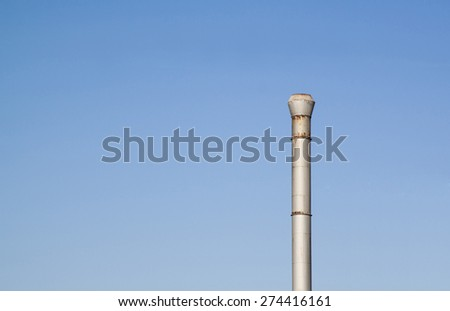 Industrial chimney without smoke as concept for pollution reduction - stock photo