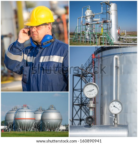 industrial collage - stock photo