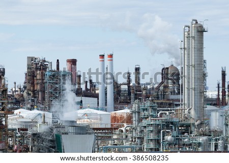 Industrial complex in Kawasaki - stock photo