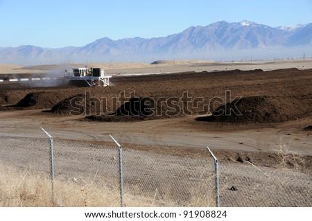 Industrial Composting at Utah Landfill - stock photo