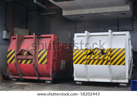 Industrial containers for general purpose use. For concepts such as industry, environment and energy.