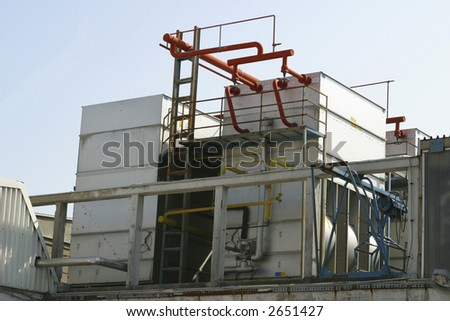 industrial cooling compressor from factory - stock photo