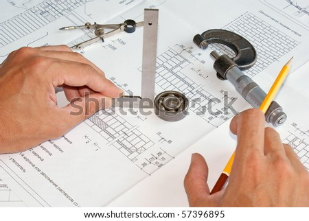 industrial designing - stock photo