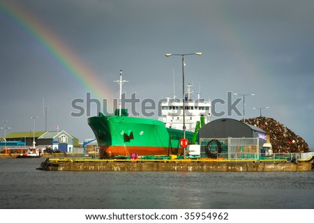 Industrial Dock - stock photo