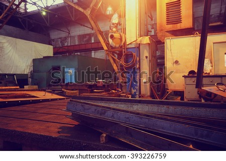 industrial equipment background