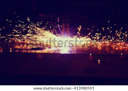 industrial equipment background - stock photo