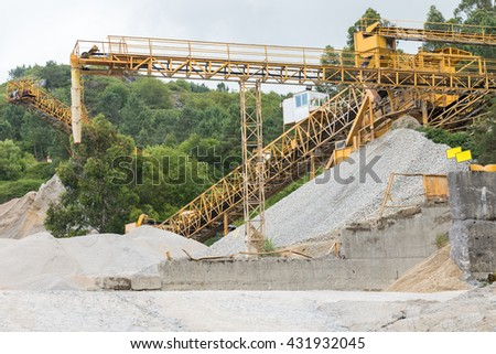 industrial equipment image for quarrying - stock photo
