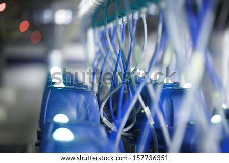 Industrial equipment, wires - stock photo
