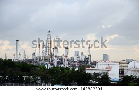 Industrial factory In the center, Bangkok Thailand