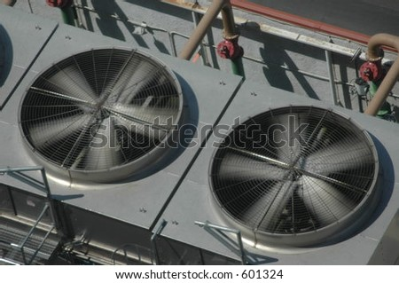 industrial fans - stock photo