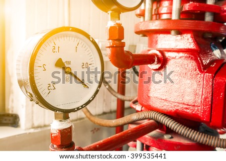 Industrial fire extinguishing system - stock photo