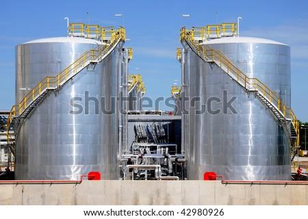 Industrial fuel storage - stock photo