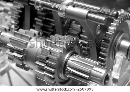 Industrial Gears Background - stock photo