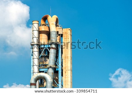 Industrial grain silos for agriculture - stock photo
