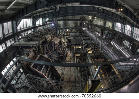 Industrial hall for processing coals in Zollverein, an industrial heritage site in Essen, Germany, a former coal mine