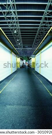 Industrial hallway - stock photo