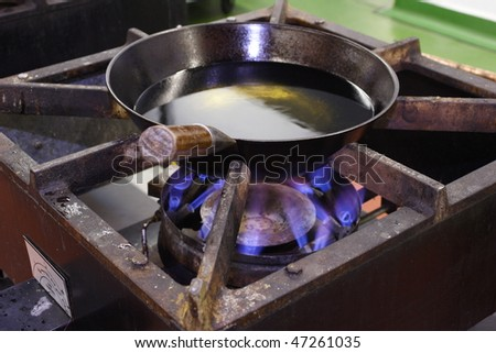 Industrial Hob - stock photo