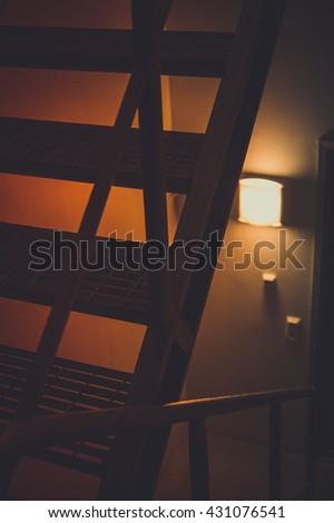 Industrial interior design - stock photo
