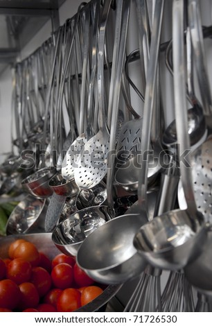 Industrial kitchen details - stock photo