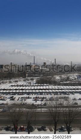 Industrial landscape - stock photo