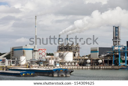 Industrial landscape of the harbor