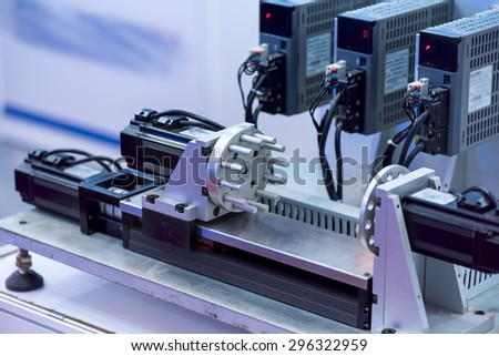 industrial metal machining cutting process - stock photo