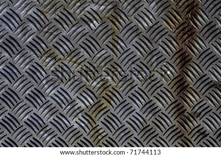 industrial metal plate with rust stains - stock photo