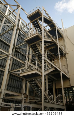 Industrial metal stairs, steps