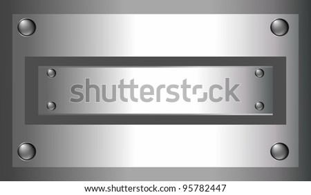 industrial metallic background with place for text