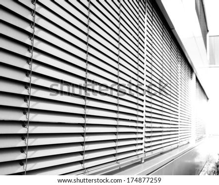 industrial metallic facade - stock photo