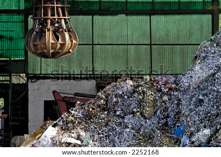 Industrial metallic scrap ready to be recycled - stock photo