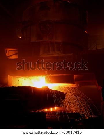 Industrial metallurgy - stock photo