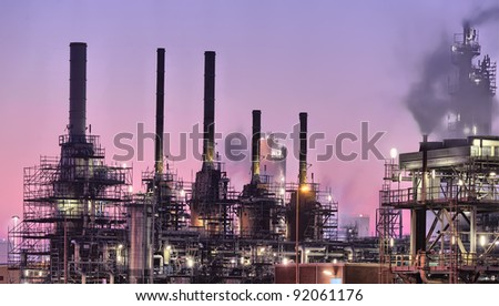 Industrial night scene