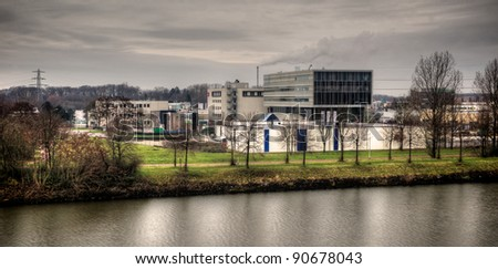 Industrial Nijmegen - stock photo