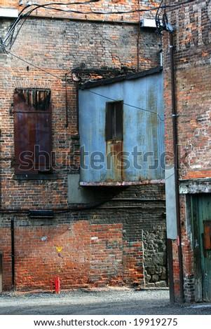 Industrial Overhang - stock photo