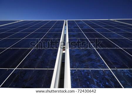 Industrial photovoltaic installation - stock photo