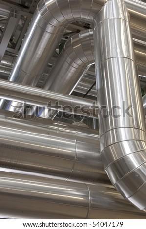 Industrial pipeline - stock photo