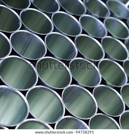 Industrial pipes as a pattern - stock photo