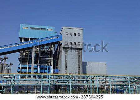 Industrial plant equipment - stock photo