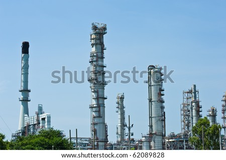 industrial plant with blue sky