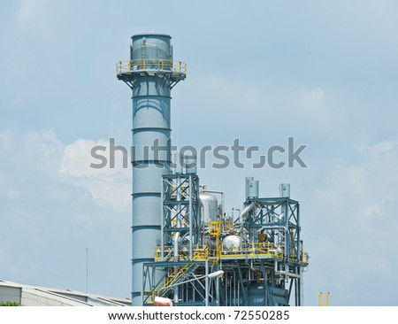 Industrial plant with sky