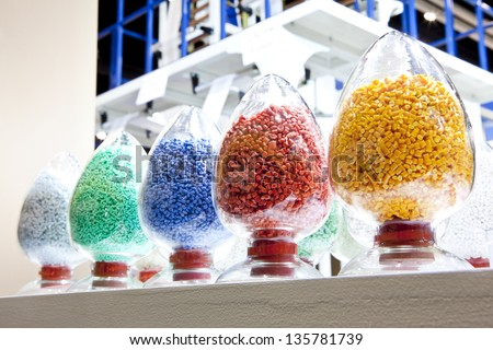 industrial plastic granules - stock photo