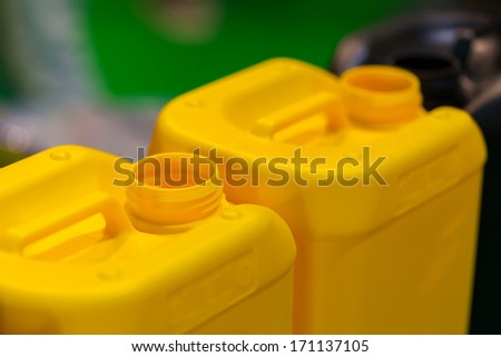 Industrial Plastic Jerrycans - stock photo