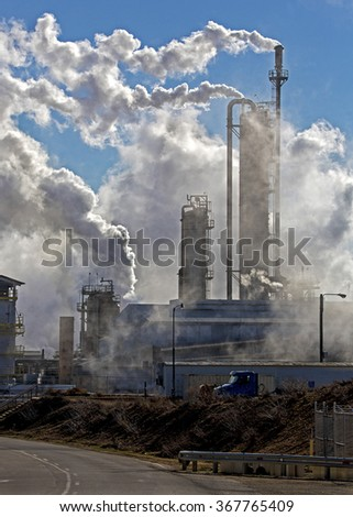 Industrial pollution - stock photo