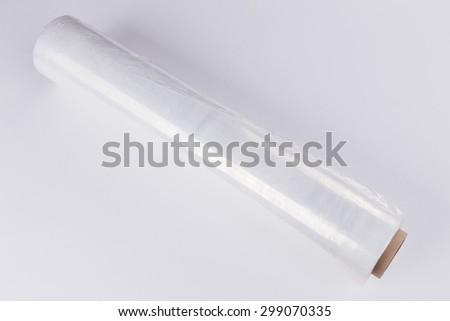 Industrial Polyethylene, PVC film - stock photo