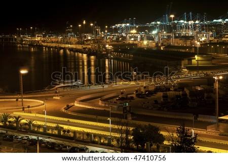 Industrial Port - stock photo