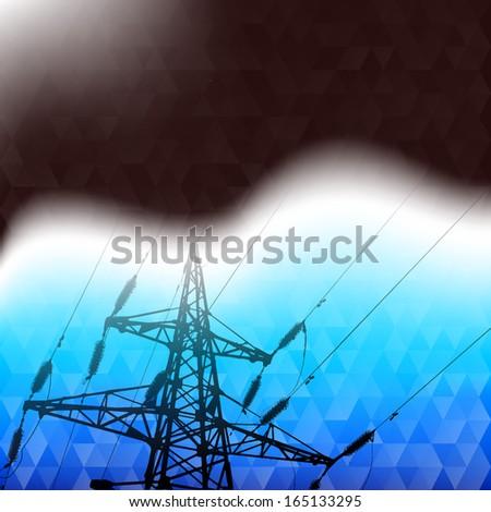 Industrial pylon abstraction.  illustration. - stock photo
