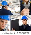 Industrial related collage - stock photo