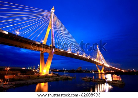 Industrial ring bridge of Thailand - stock photo
