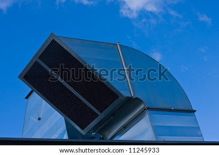 Industrial roof ventilation - stock photo